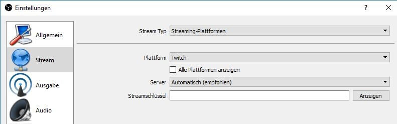 Twitch Dashboard Programm