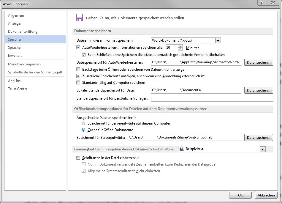 Datei Wiederherstellen Word