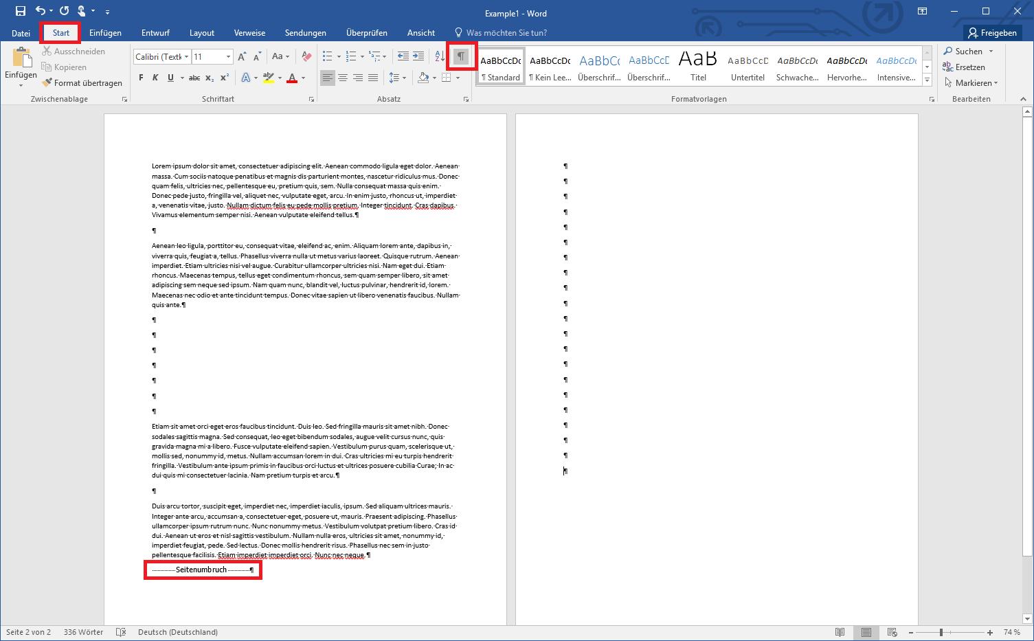 Seite Aus Word Löschen