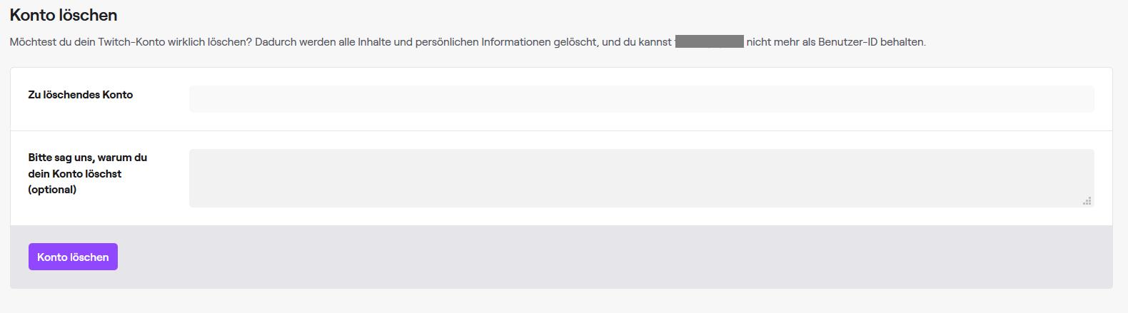 Twitch Löschen