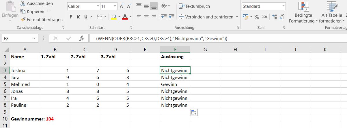 Excel Oder Zeichen